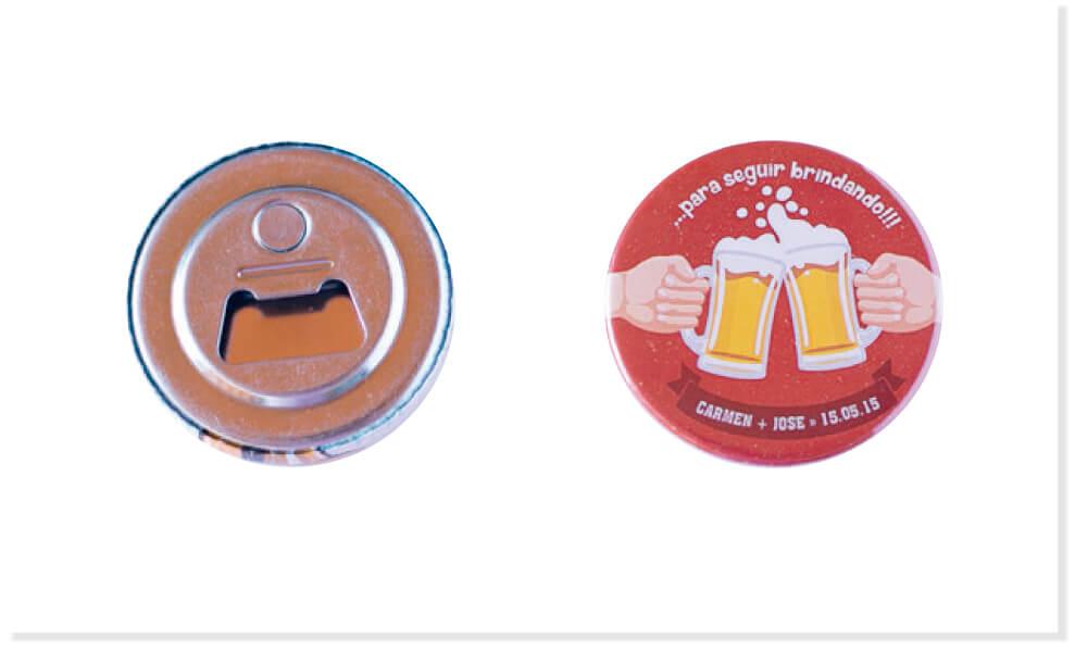 Chapas personalizadas para merchandising