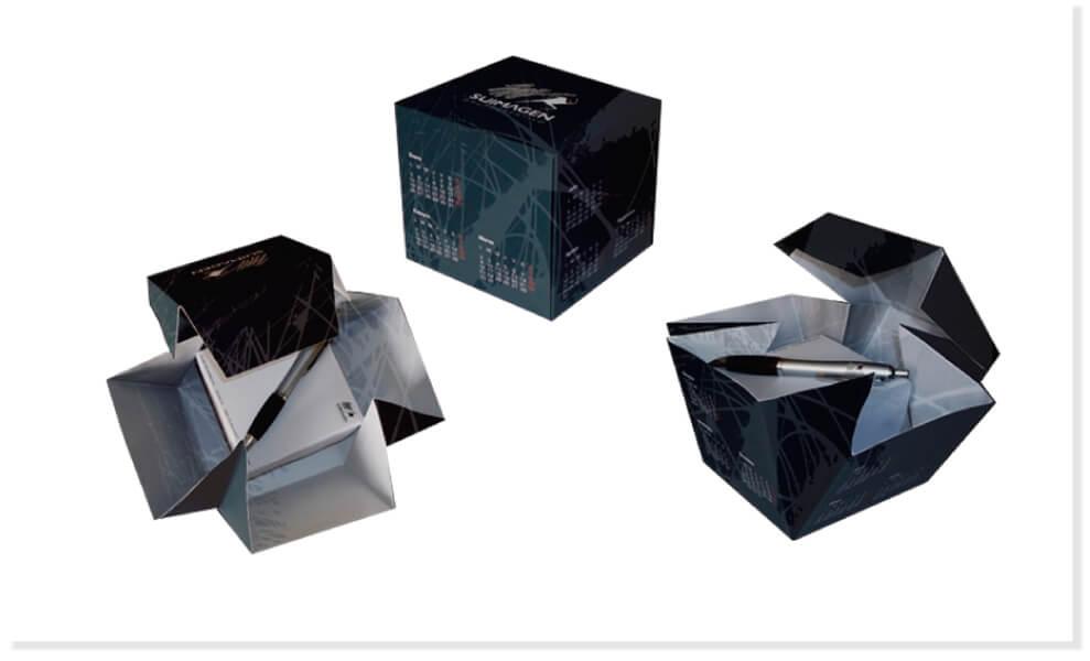 Caja-calendario para merchandising