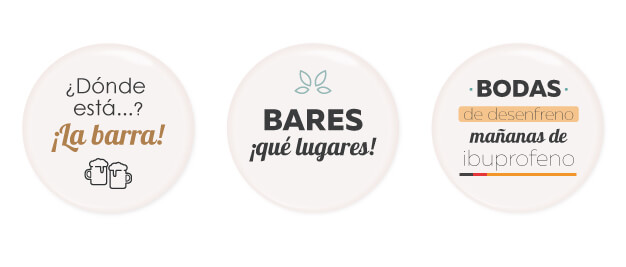 Chapas personalizadas para bodas